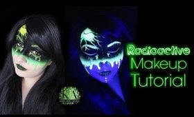 Radioactive Black Light Halloween Makeup Tutorial - 31 Days of Halloween