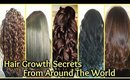 Hair Growth Secrets From Around The World! │ Grow Hair FAST Home Remedies │ LONG HAIR Naturally!