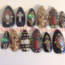Virgin Guadalupe studded nails