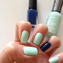 Mint Sorbet with Blue Splendor