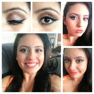 Using physicians formula in warm nudes with a sephora orange lip gloss