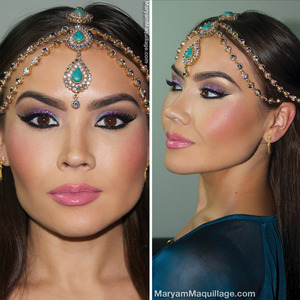 Details: http://www.maryammaquillage.com/2013/11/fit-for-queen-exotic-makeup-headpiece.html