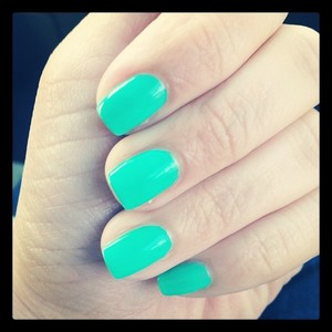 """Received from BirchBox AGE OF THE AQUARIUS I love the nail polish. I received a mini version of """"Age of the Aquarius"""": Go figure that I am an Aquarius to begin with. I would recommend this product most definitely. This usually cost around $8.00. This is a great color as well. Used it for St. Patricks Day."""