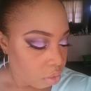 Purple eyes nude lips