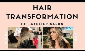 My Hair Transformation Ft. Atelier Salon // Kiara Michelle