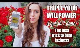 """TRIPLE YOUR WILLPOWER AND SELF CONTROL - No more lazy days or procrastination - """"TYLA"""" CHALLENGE"""