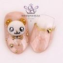 Korean cute bear nail art