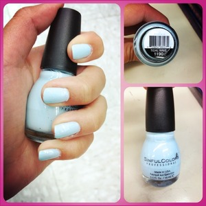 I love this baby blue color! Only $1.99 at Walgreens :)