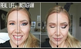 INSTAGRAM vs REAL LIFE MAKEUP | BEAUTY OVER 40