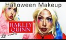Halloween Makeup:  Harley Quinn - Suicide Squad