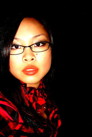 GWG: right before I started to learn how to play w/ make up!  Camera flash + Glasses = Magnified dizziness!