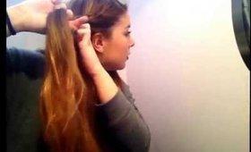 Braided side ponytail tutorial