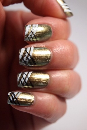 31 Day Nail Challenge Day 12 Stripes