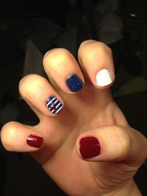 My nautical nails