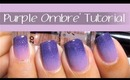 Easy Purple Ombre Nail Art Design Tutorial