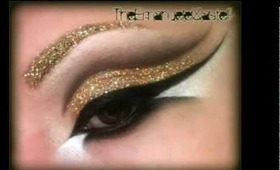 Christmas Make Up Tutorial - Glittery Gold (Gold & Glitter)