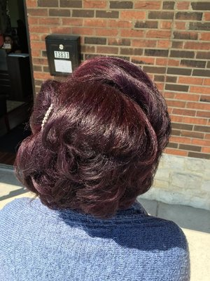 Short Hair style and color by Christy Farabaugh