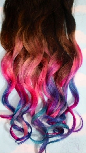 I just got my hair dip dyed!!!! These are the results!! Let me know what you think!!