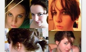 6 Cute Hairstyles for Growing out Short Hair!!