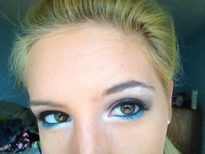 Love adding blue liner under my eyes!