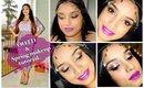 Glamorous spring makeup look for brown skin + OOTD.