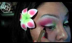 Hawaiian Wedding Flower Inspired Look feat. 120 palette