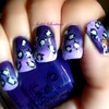 Ombré Purple With Cheetah Design
