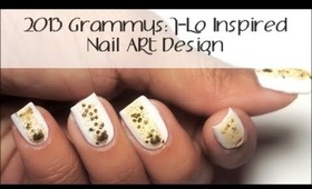Grammys 2013 J-Lo Inspired Nail Art Design