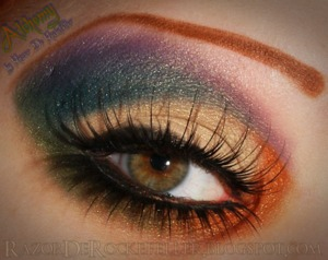 Eye look using Lime Crime's Alchemy palette