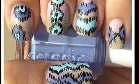 Ikat Nails By The Crafty Ninja