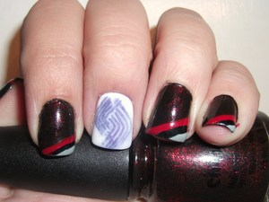 Portland Trailblazer Nails!! http://polishmeplease.wordpress.com