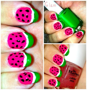 Essie Shake Your $$ Maker ( Neon Green) Sally Hansen Salon Manicure (Frutti Petitie) , Kiss Nail Art ( Black & White)