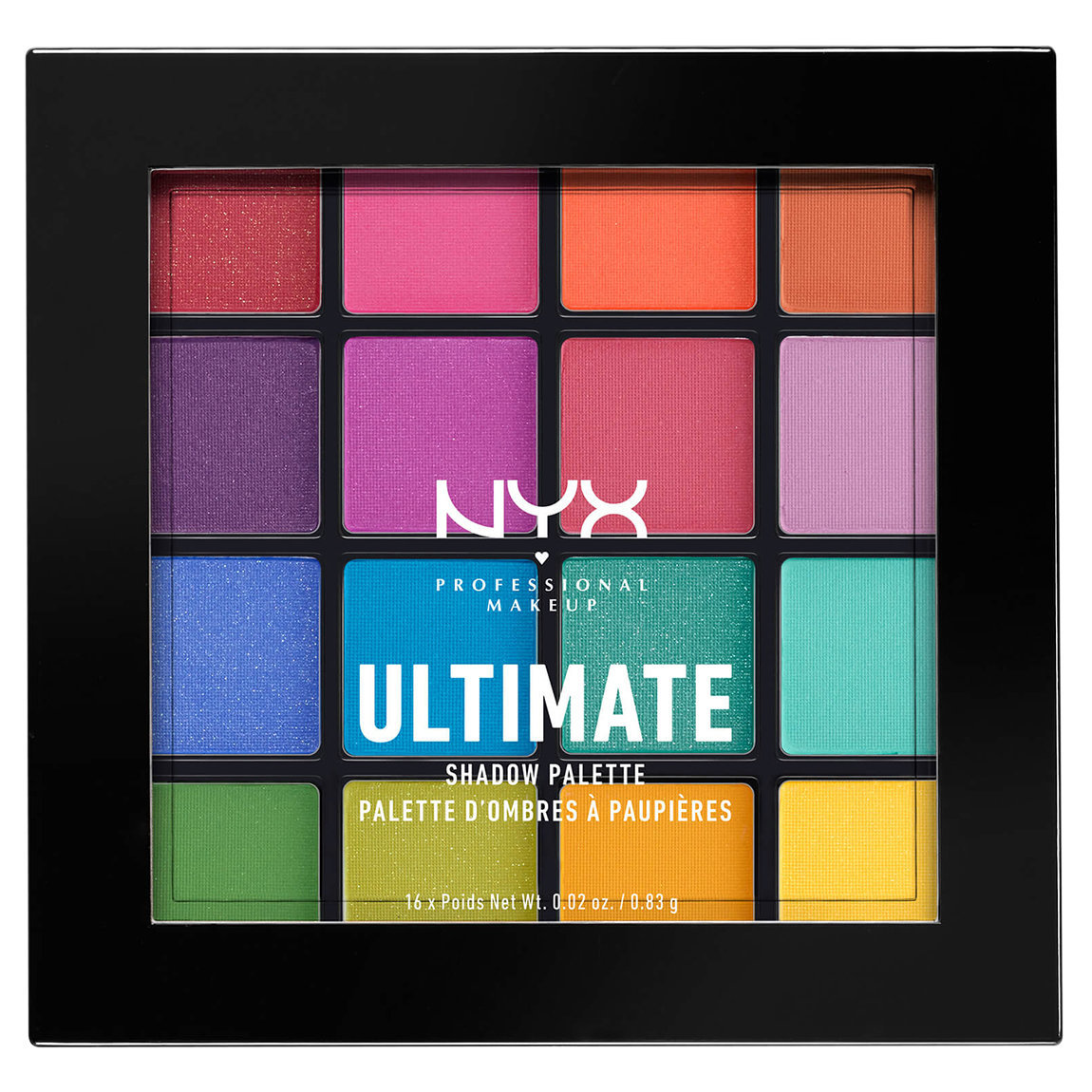 NYX Professional Makeup Ultimate Shadow Palette Brights alternative view 1 - product swatch.