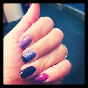 Purple Ombre Nails www.undecidedmama1329.com