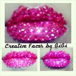 Rhinestone lips