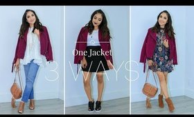 One Jacket 3 Ways | Fall Season Try On Haul