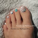 Seashell Toenail Art Design