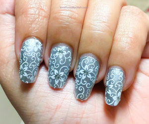 For detail tutorial visit http://lovefornailpolish.com/white-lace-nail-decals-cheap-nail-wraps-from-bornprettystore