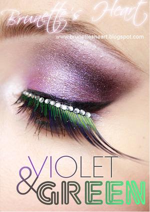 Violet&green http://brunettesheart.blogspot.com/