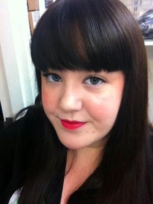 FOTD using MAC's MAC Red lipstick!