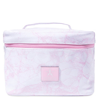 Travel Makeup Bag White Marble