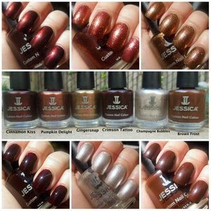 more swatches and review: http://www.thepolishedmommy.com/2012/10/jessica-spicy-dream-collection.html