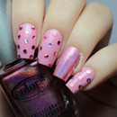 Girly Polka Dot Nails