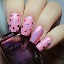Girly Polka Dot Nails
