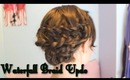 How to: Waterfall Braid updo