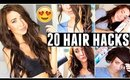 20 HAIR HACKS Every Girl Should Know!!