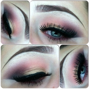 Woodwinked on lid sushi flower in crease and fig1 and carbon in outer V. all mac products Red cherry lashes 107 and 138 :] instagram @amanduh29