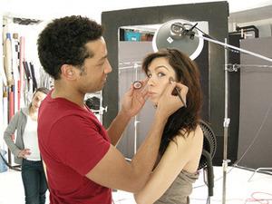 christopher drummond applying makeup