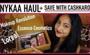 NYKAA HAUL & Get CASHBACK With CASHKARO 😃| L'Oreal, Essence, Makeup Revolution | Stacey Castanha