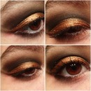 Copper/black Smokey Eye.